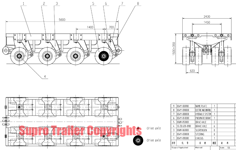 scheuerle self propelled transporter