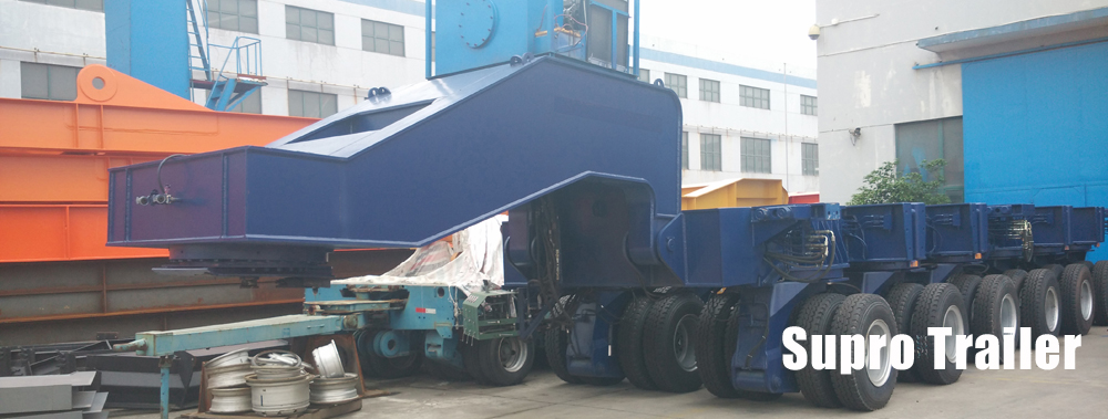 big loader hydraulic modular trailer