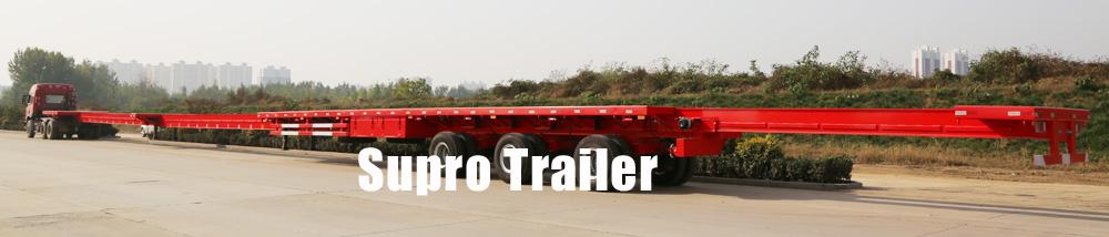 Extendable windmill blade trailer