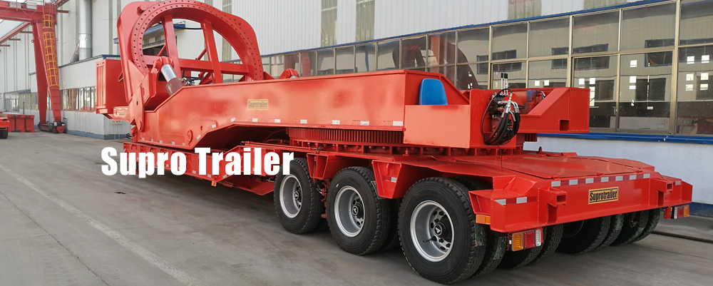 low bed trailer windmill blade adapter