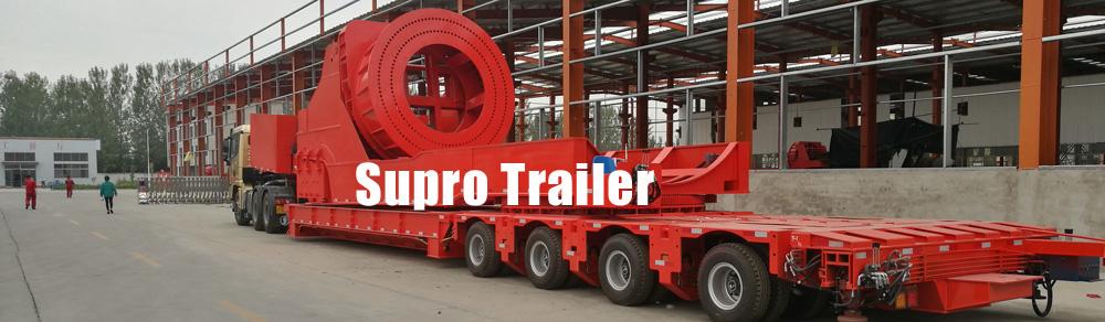 hydraulic modular trailer with windmill blade adapter